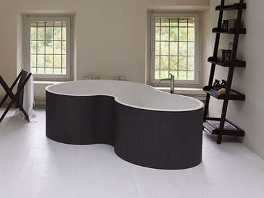2 seater freestanding Solid Surface bathtub DR | Freestanding bathtub