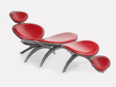 Chaise longue en noyer DRAGONFLY | Chaise longue