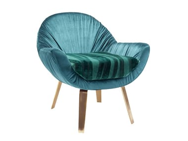 Fabric armchair with armrests DRAPER | Armchair