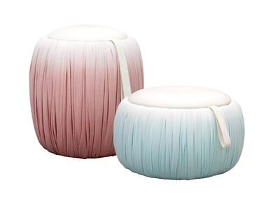 Storage round fabric pouf DRAPER | Pouf