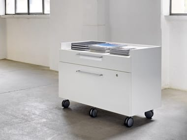 Metal office drawer unit with castors with lock DRAWERS