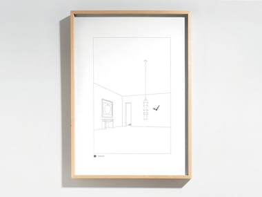 Wall-mounted wood and glass clock DRAWING NO. 12