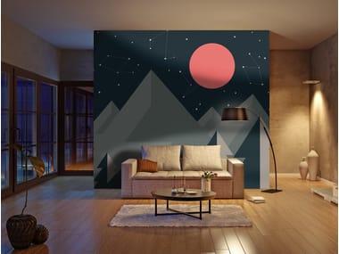 Adhesive washable wallpaper DRAWING