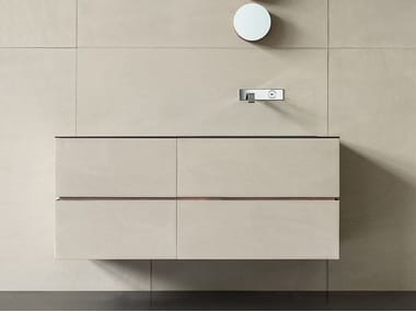 Wall-mounted vanity unit with drawers DRESSCODE
