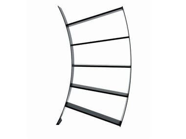 Open Anodized aluminium bookcase DRIADE - VIRGO