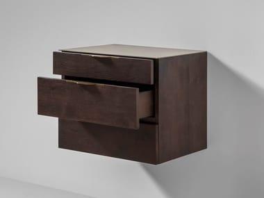 Élément mural horizontal en chêne avec tiroirs DRIFT | Élément mural avec tiroirs