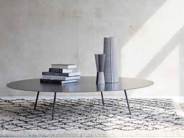 Round steel coffee table DRIP   Steel coffee table