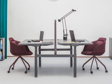 Multiple steel office workstation YAN DRIVE - BENCH