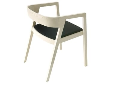 Ash armchair with armrests DRIVE   Chair with integrated cushion