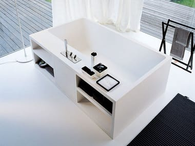 Freestanding Cristalplant® bathtub CARTESIO | Freestanding bathtub