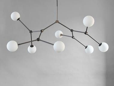 LED swivel brass chandelier DROP CHANDELIER BULP
