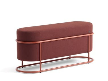 Upholstered fabric bench DROP | Bench