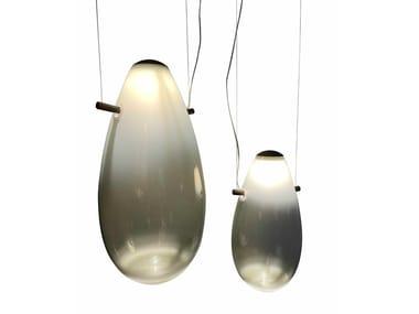 LED blown glass pendant lamp DROP