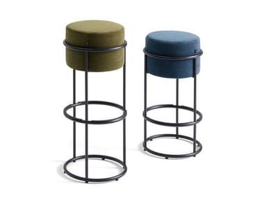 Fabric barstool with footrest DROP | Barstool