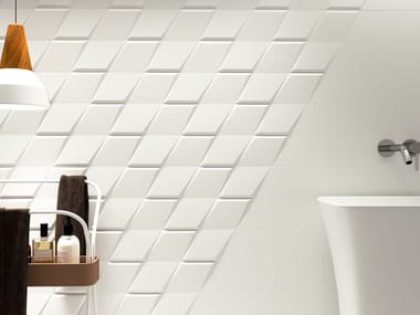 White-paste wall tiles DROP
