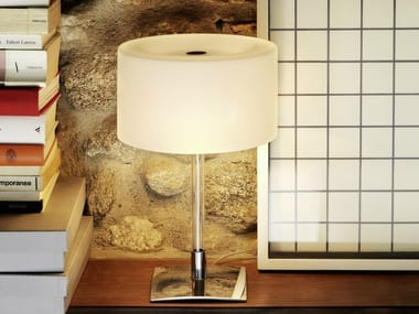 Table lamp with dimmer 3247ta by fontanaarte table lamp with dimmer drum table lamp mozeypictures Images