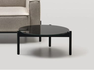 Round glass coffee table for living room DS-22 | Coffee table