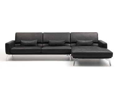 Sectional leather sofa with chaise longue DS-87 | Sofa