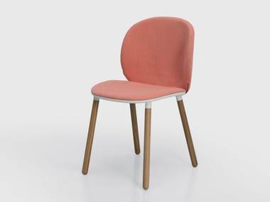 Upholstered fabric chair DUA | Chair