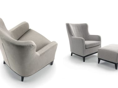 Classic style bergere upholstered rubber armchair DUCALE | Bergere armchair