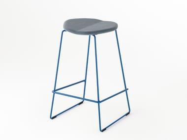 High sled base fabric stool DUET | Fabric stool