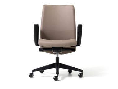 Eco-leather executive chair with castors DUKE | Executive chair