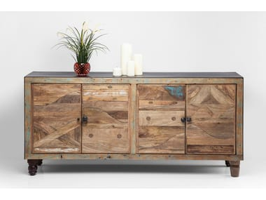 Solid wood sideboard with doors DULD | Sideboard