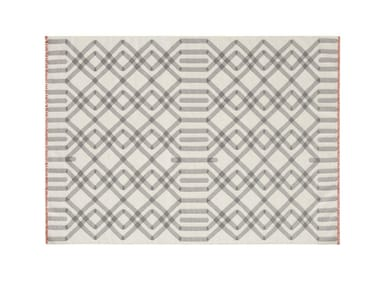 Wool rug with geometric shapes DUNA