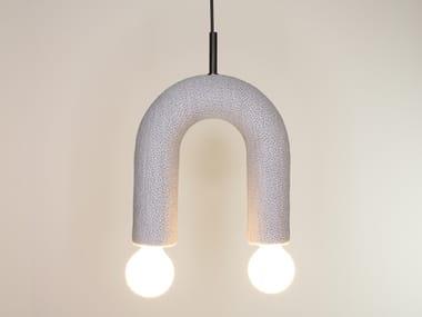 Fabric pendant lamp DUO