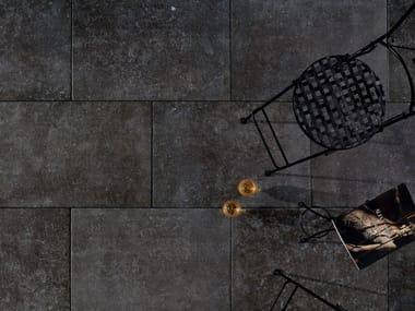 Carrelage extérieur effet pierre DUOMO BLUESTONE NOIR