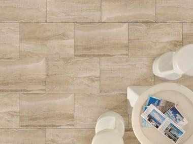 Outdoor floor tiles with travertine effect DUOMO TRAVERTINO BEIGE
