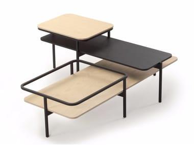 Wooden side table DUPLEX