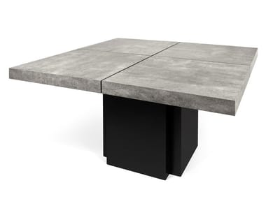 Square cement dining table DUSK | Cement table