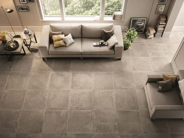 Porcelain stoneware wall/floor tiles with stone effect DUST MUD