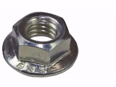 Dado flangiato in acciaio zincato Dado in acciaio zincato