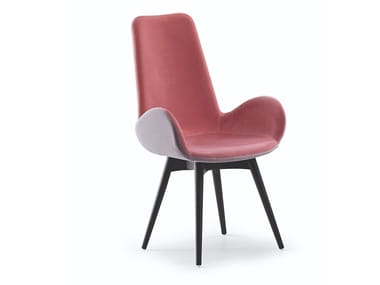 Upholstered high-back fabric chair with armrests DALIA PA LG