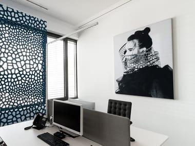 Basotect® decorative acoustical panel Designed acoustic art