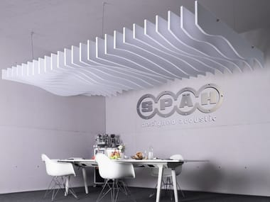 Pannello acustico a sospensione in PET Designed acoustic baffle pet