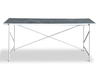 Rectangular powder coated steel dining table 185 | Dining table
