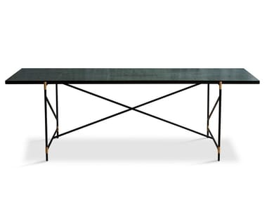 Rectangular powder coated steel dining table 230 | Dining table