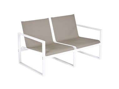 2 seater aluminium sofa Divano a 2 posti Loto