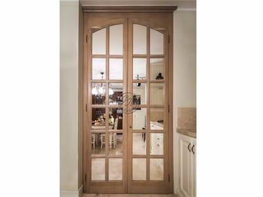 Wood and glass door Door 8