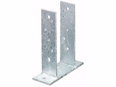 Supporto a staffa doppio in acciaio zincato Supporto a staffa doppio