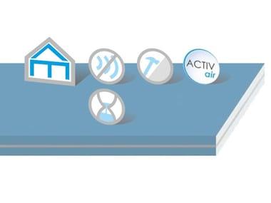 Acoustic plaster ceiling panels Duo'Tech Activ'Air®