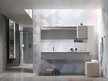 Sistema bagno componibile E.LY J - COMPOSIZIONE 66