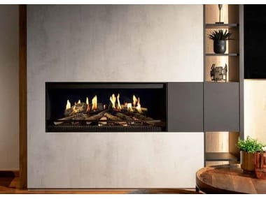 Electric built-in fireplace with push button E-ONE 100F