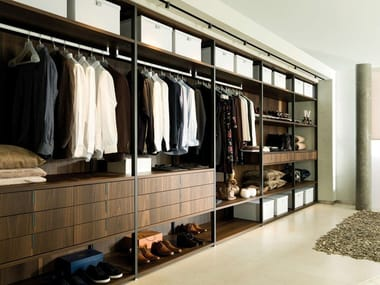 Sectional wooden walk-in wardrobe E6 | Walk-in wardrobe