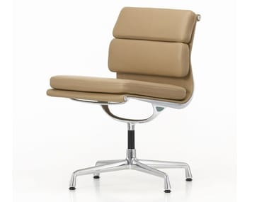 Leather chair with 4-spoke base SOFT PAD CHAIR EA 205