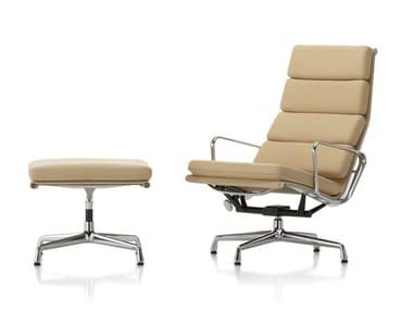 Sedia girevole reclinabile in pelle con schienale alto SOFT PAD CHAIR EA 222