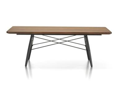 Tavolino rettangolare con piano in noce americano massello EAMES COFFEE TABLE   Tavolino rettangolare
